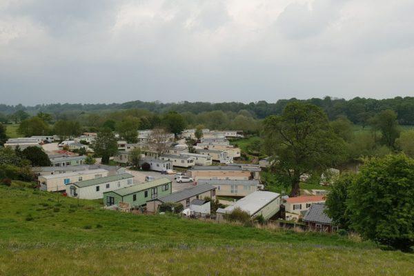 hillside view of park