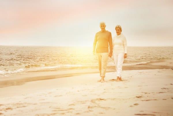 couple on beach at hawthorn
